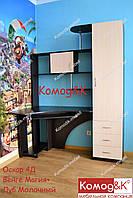 Стол компьютерный угловой Оскар 4Д Венге Магия+Дуб Молочный, фото 1