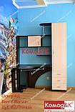 Стол компьютерный угловой Оскар 4Д Венге Магия+Дуб Молочный, фото 4