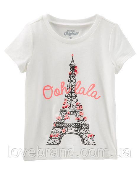 """Фирменная футболка для девочки OshKosh """"Париж"""" 3Т/93-98 см"""