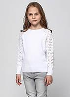 Надзвичайно ніжний білий светр з ажурними рукавами для дівчинки 128-152р, фото 1