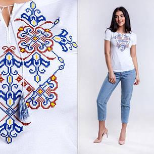 Трикотажна вишиванка Орнамент білого кольору, фото 2