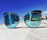 Солнцезащитные очки женские фирменные Cordeo Blue модерн в стиле Ray Ban