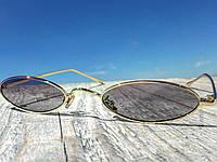 Солнцезащитные очки унисекс фирменные узкие овальные кошачий глаз
