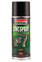 Антикоррозионный аэрозоль Zinc Spray Soudal 400 мл.