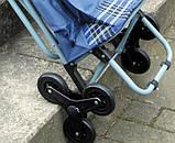Сумка-тележка со стулом - дорожная сумка на колесах (синяя), фото 2