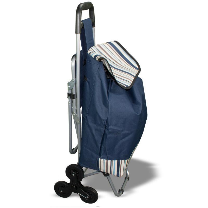 Сумка-тележка со стулом - дорожная сумка на колесах (синяя)