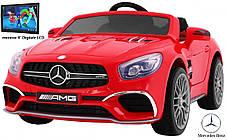 Детский электромобиль Mercedes SL65 красный c Планшетом или Без+ резиновые EVA колеса + Кожа сидение, фото 2
