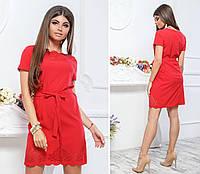 Платье с выбитым рисунком ( арт. 109 ), ткань супер софт, цвет красный, фото 1