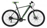 """Горный велосипед  WINNER EPIC 29"""" серо-красный Черно-зеленый, 22"""""""