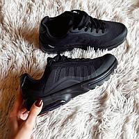 """Женские черные кроссовки """"волна""""  код 235, фото 1"""