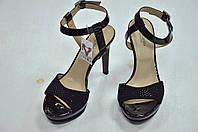 Черные замшевые босоножки на каблуке Nero Giardini к.-522