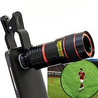 Линза для макросъёмки на телефон телескоп Leiqi LQ-022 Zoom 8X