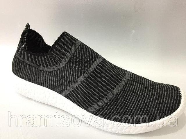 Кроссовки мужские Adidas Boost Sity Sock (Адидас) летние, без шнурков,  реплика - 26b099fab52