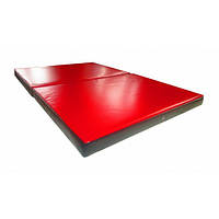Мат гимнастический складной 150х100х8 см из2-х частей , фото 1