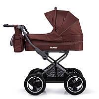 Универсальная прогулочная коляска 2в1 шоколадная TILLY Family T-181 Brown деткам от рождения до 3 лет