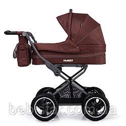 Универсальная прогулочная коляска коричневая TILLY Family T-181 Brown деткам от рождения до 3 лет