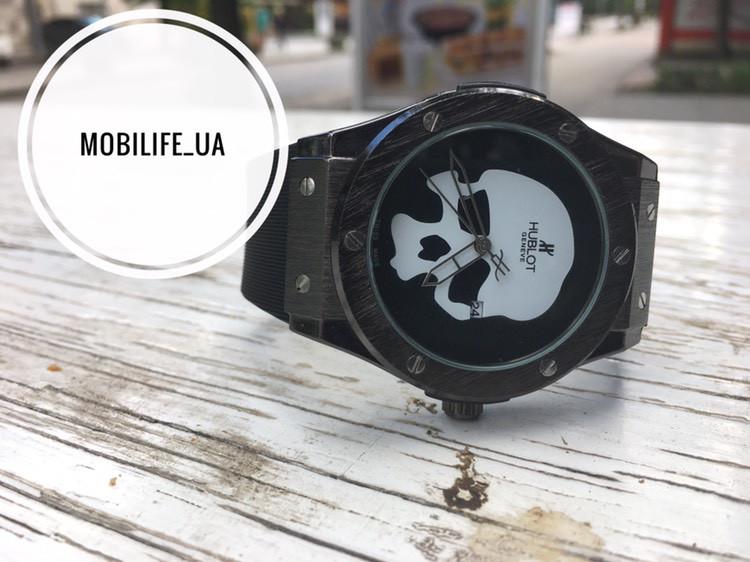 Часы наручные Hublot с Черепом качество Люкс