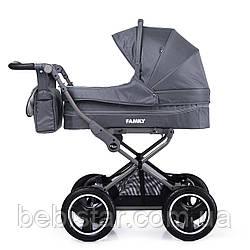 Универсальная прогулочная коляска 2в1 серая TILLY Family T-181 Grey деткам от рождения до 3 лет