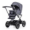 Универсальная коляска серая Tilli Family 2в1 люлька прогулочный блок матрасик москитная сетка дождевик, фото 3