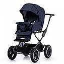 Универсальная коляска синяя Tilli Family 2в1 люлька прогулочный блок матрасик москитная сетка дождевик, фото 4
