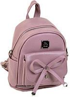 Детский Розовый рюкзак с бантом 23*21*13. Качественная женская сумка Alex Rai с бантом. ЖС11-1, фото 1