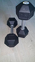 Гантель стальная неразборная весом 10 кг