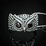 Срібне кільце Сова з вічками, фото 2