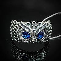 Серебряное кольцо Сова с глазками, фото 1