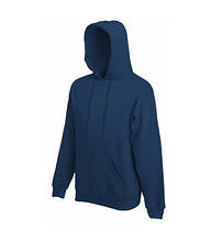 Толстовка на флисе с капюшоном - 62208-32 темно-синий