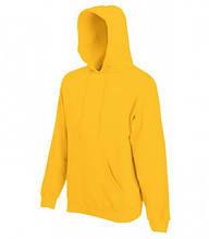 Толстовка на флисе с капюшоном - 62208-34 желтый