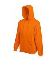 Толстовка на флисе с капюшоном - 62208-44 оранжевая