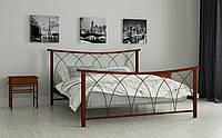 Металлическая кровать Кира 80х190 см. Мадера