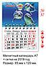 Магнитный календарь 2019 Затока 37