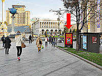 Ситилайт аренда г. Киев, Независимости пл., возле дома Главпочтампа, в сторону ул. Крещатик