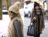Новинки осенне-зимнего сезона - шапка носок объемной вязки