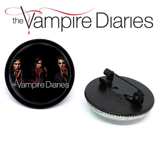 Значок брошь Дневники Вампира Vampire Diaries с героями сериала