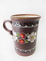 Чашка глиняная большая Вишня (С росписью Вишенка)