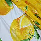 Полуторное постельное белье, Апельсин, сатин 100%хлопок , фото 5
