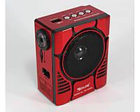 """Портативный радио приемник """"GOLON"""" RX-188 LED USB FM с фонарём"""
