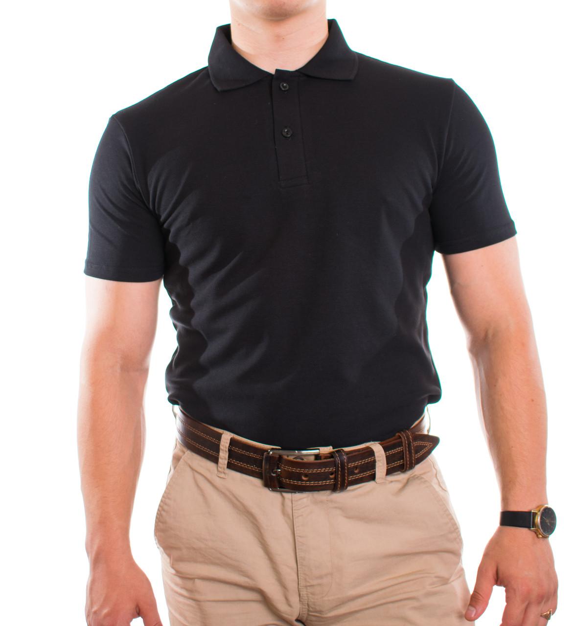 Bono Мужская футболка Поло черная 400001