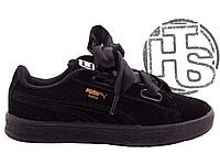 3a65c6463d8ec2 Детские кроссовки Puma Suede Heart Preschool Sneakers Black 364919-06