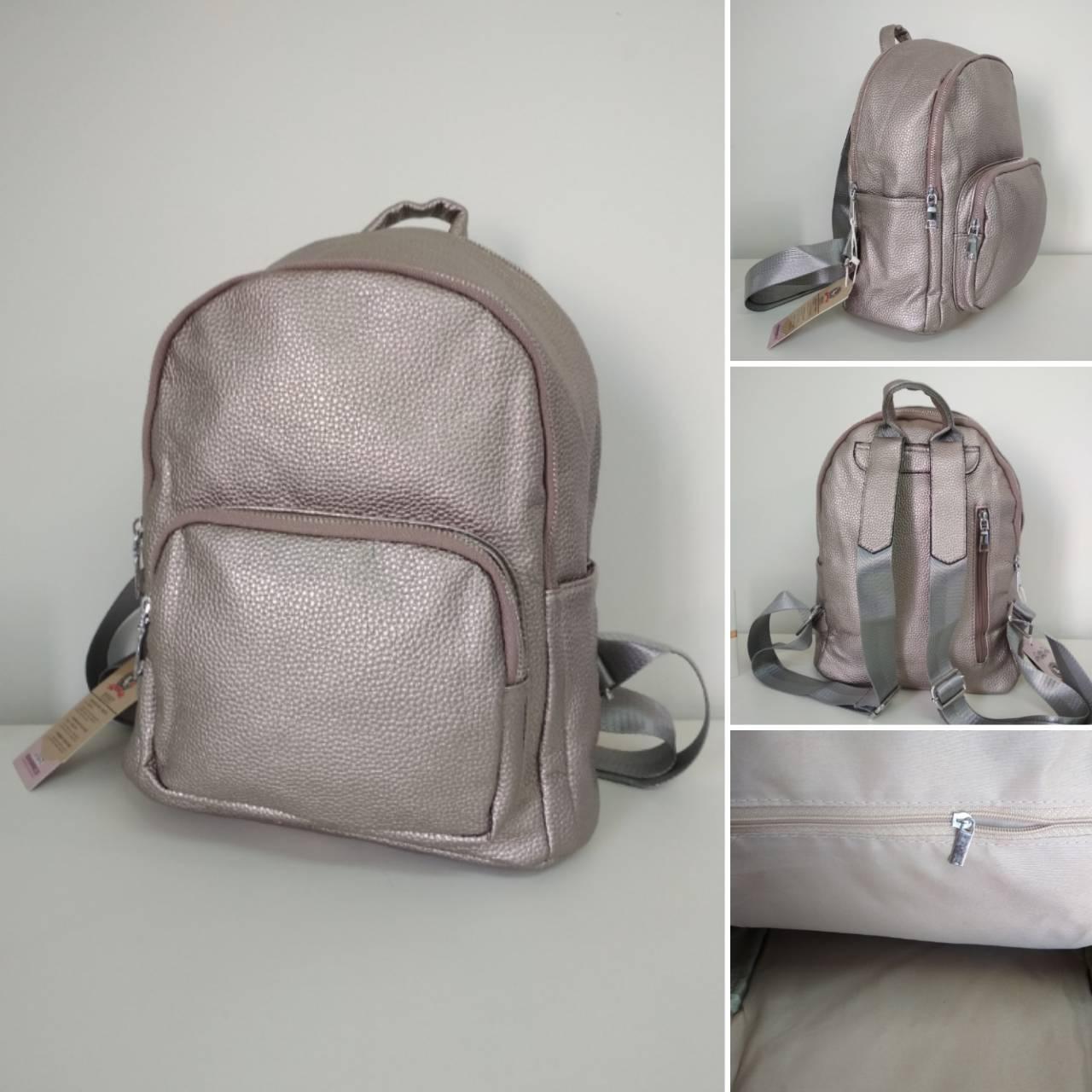 Рюкзак городской кожзам для девочки размер 33x23x17