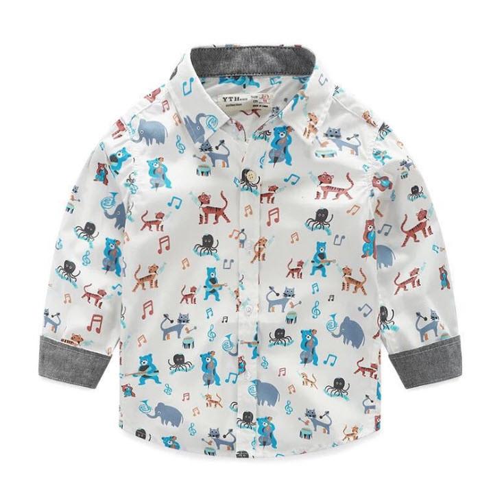 "Рубашка ""Зооленд"" 98,116,140"