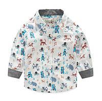 "Рубашка ""Зооленд"" 98,110,116,128,140, фото 1"