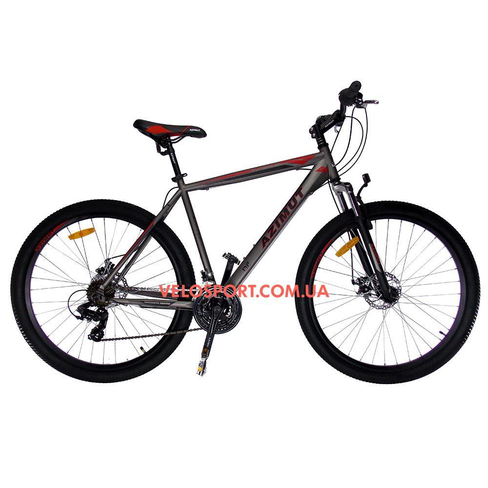 """Горный велосипед Azimut Vader 29 GD+ 19"""" серый"""