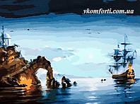 Рисование по номерам BABYLON Лунная ночь (корабль) хкд. Романов Роман (MS416)