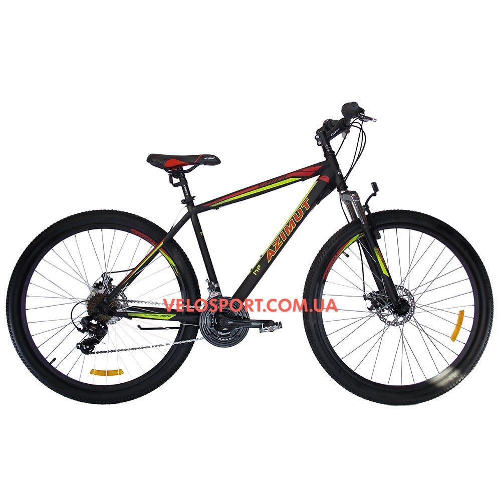 """Горный велосипед Azimut Vader 29 GD+ 19"""" черный"""