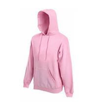 Толстовка на флисе с капюшоном - 62208-52 розовая