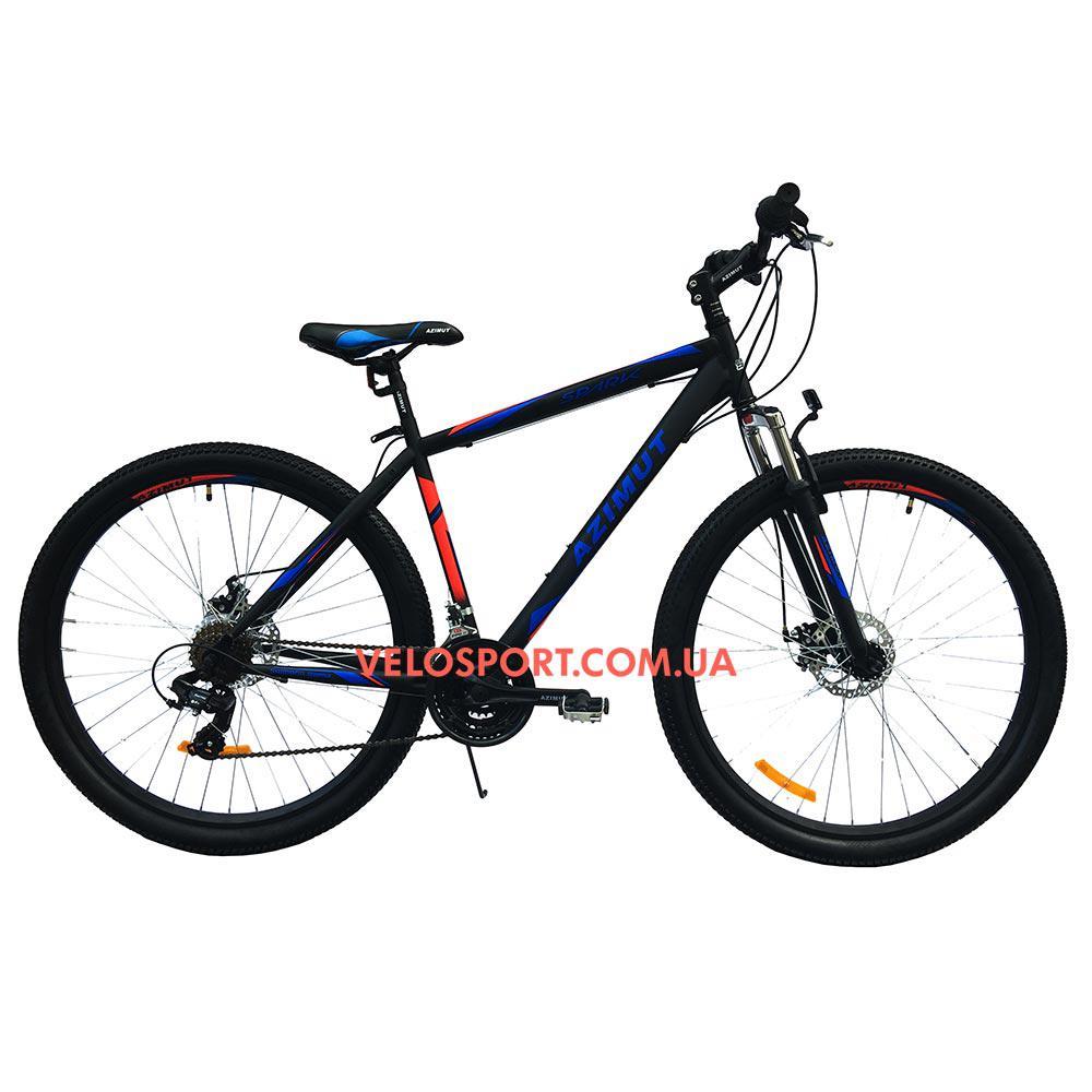 Горный велосипед Azimut Spark 29 GD+ черно-синий