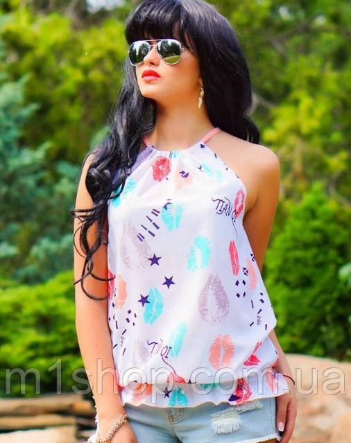 Женская летняя блузка без рукавов (0919 svt)